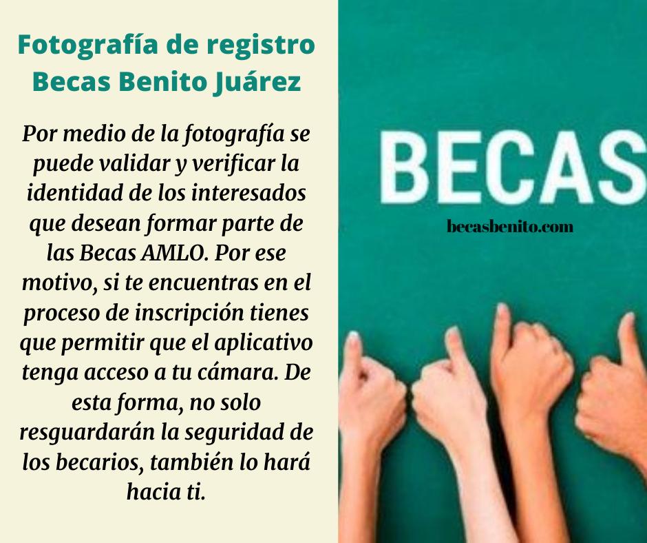Fotografía de registro Becas Benito Juárez