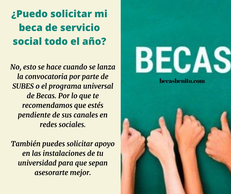 beca amlo servicio social