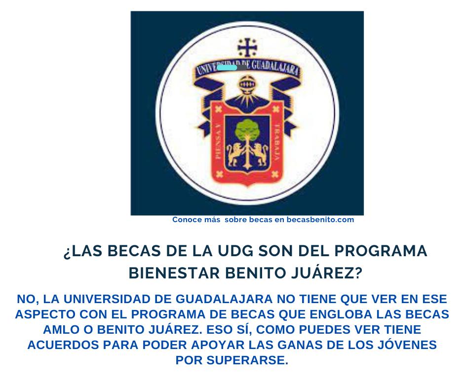 becas de la UDG son del programa bienestar Benito Juárez
